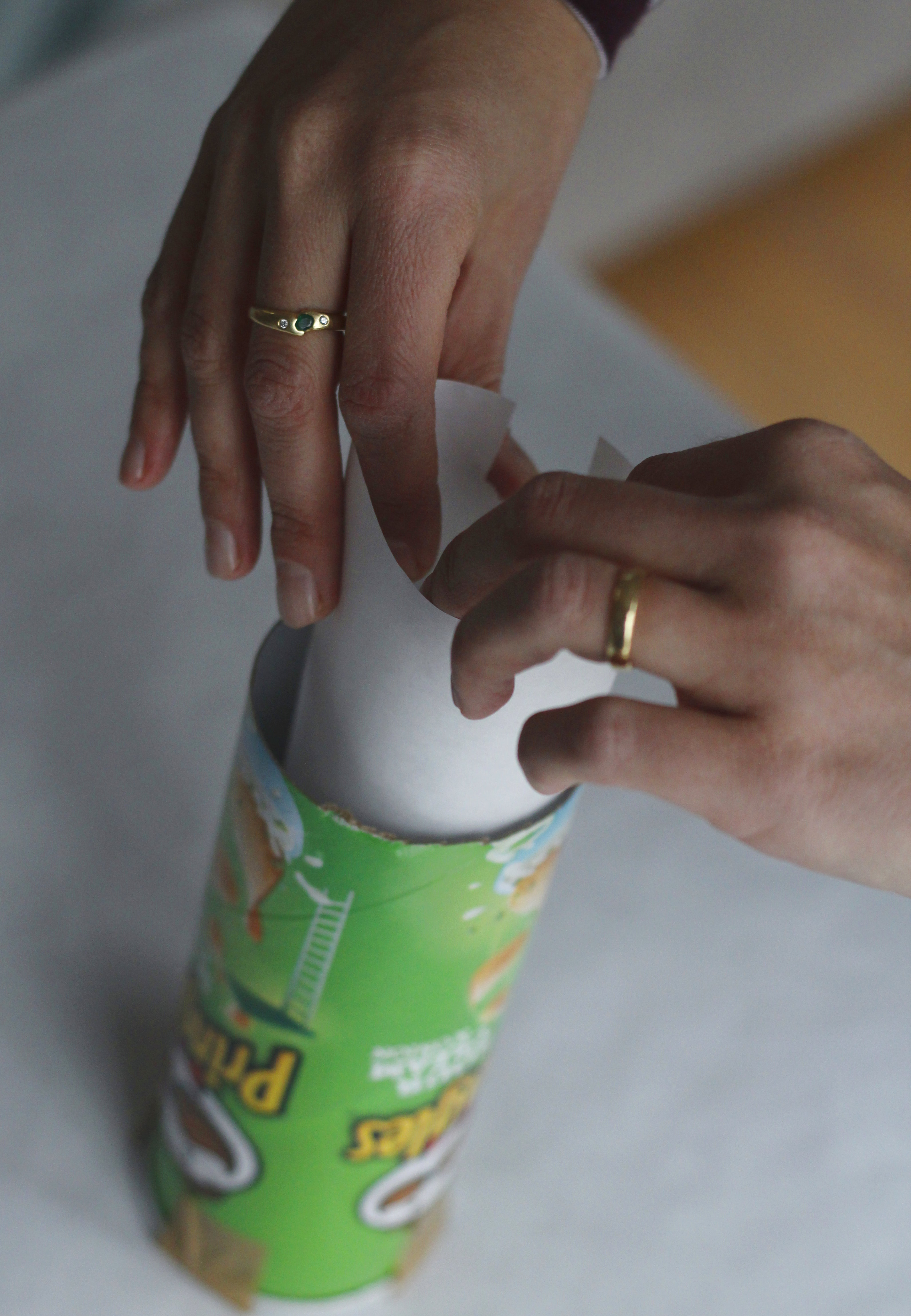 Line can with freezer paper