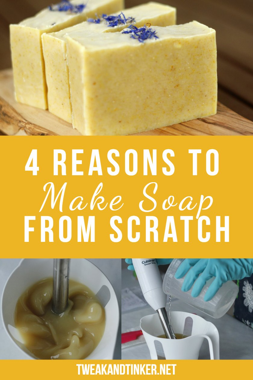 Have you been thinking of making your own natural handmade soap? This post will inspire you to take the leap and try your hand at cold process soap making or hot process soap making. #coldprocess #DIY