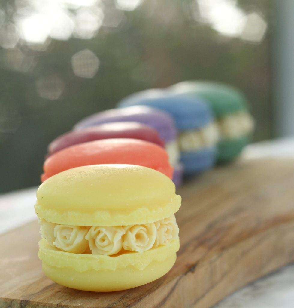 How to make lavender blossom soap macarons