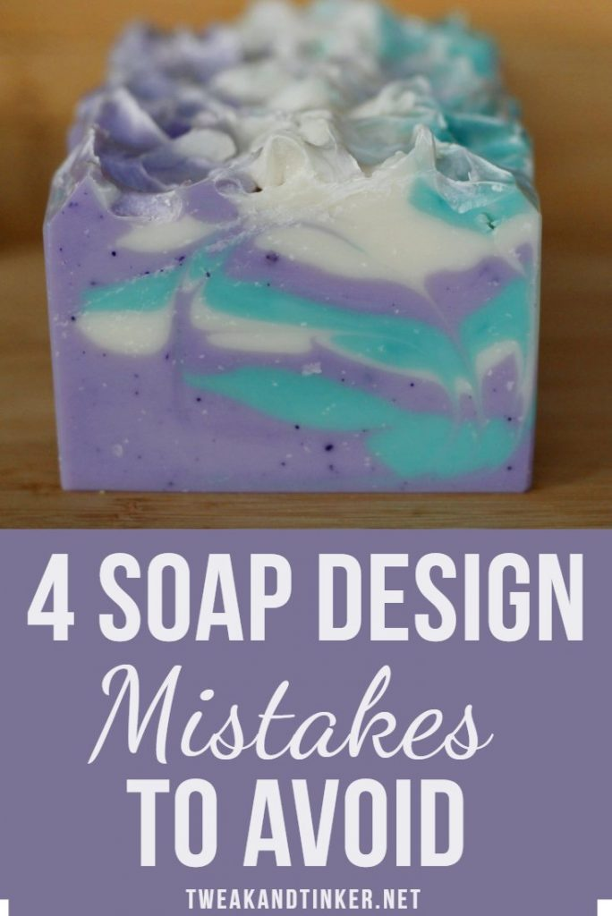 Let's face it: cold process soap making is a finicky craft. These 4 things can help you perfect your soap design techniques. #coldprocess #soap #soapdesign