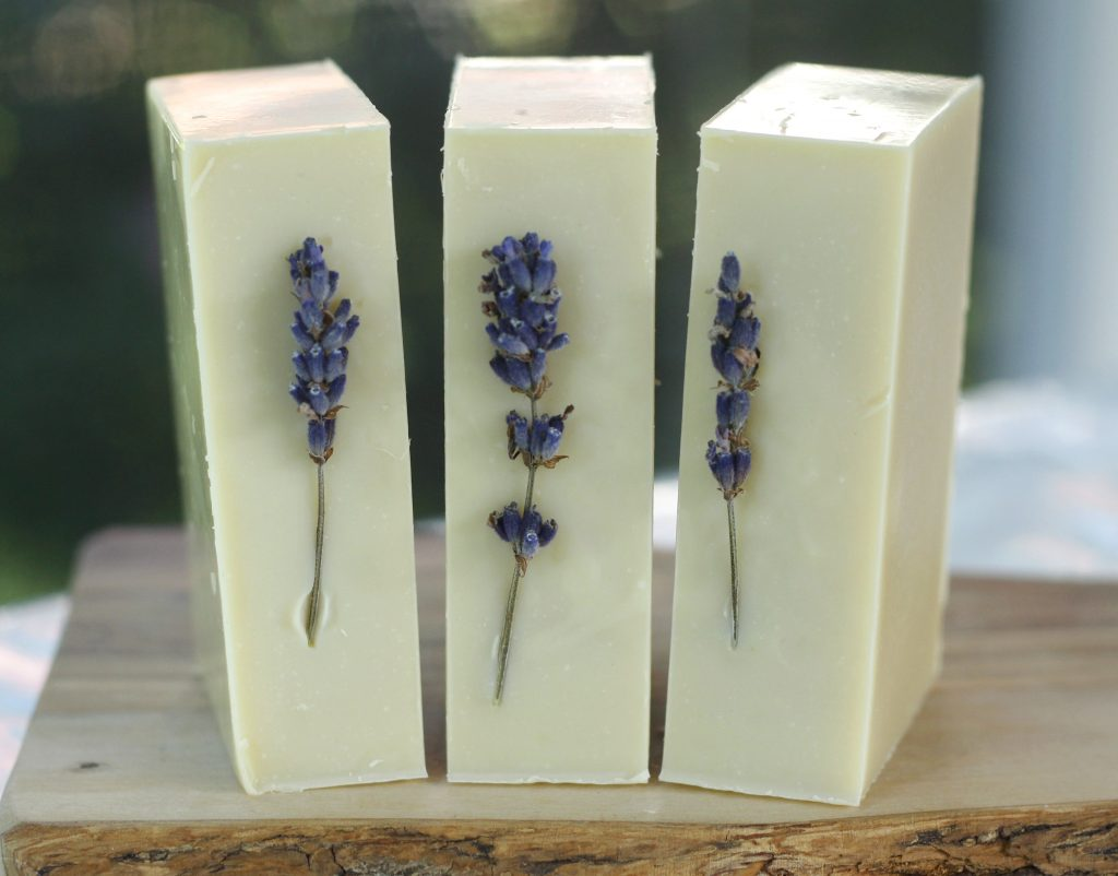 Who doesn't love a good homemade lavender soap? This recipe is for cold process soap making and uses homegrown lavender, essential oils as well as shea butter to create a wonderfully soothing soap. #coldprocess #homemadesoap #soap #DIY #lavender