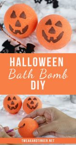 Looking for easy Halloween DIY crafts? These bath bombs are perfect for kids to make. The recipe for these cute pumpkins make for awesome non candy treats, decorations or handmade gifts. #Halloween #crafts #DIY #bathbombs