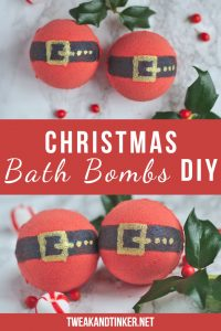 This easy DIY bath bomb recipe makes for perfect homemade Christmas gifts and stocking stuffers. Aren't these santa bath bombs adorable? #christmascrafts #christmasgifts #stockingstuffer