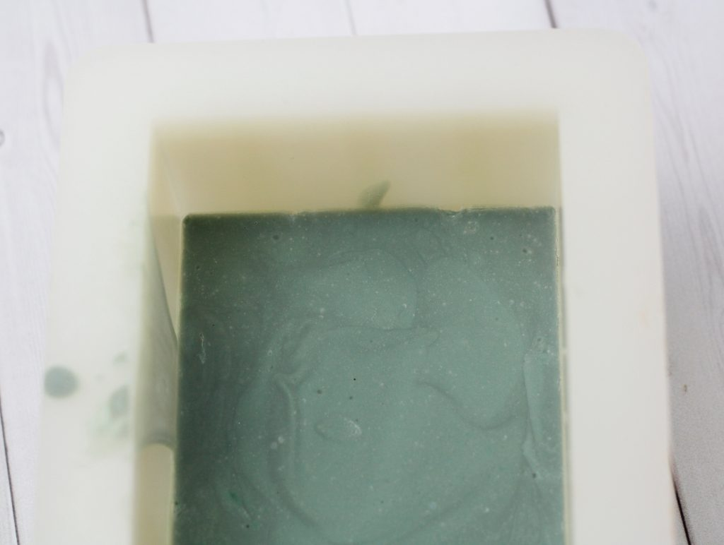 layer of green soap